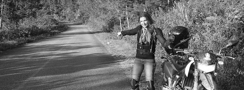 Accident scene revisited, 4 years later  - MOTOGIRL 'in
