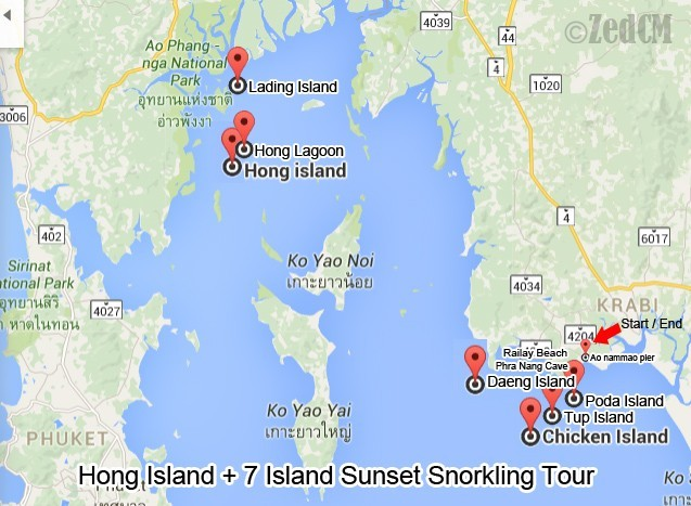 Krabi Hong Island Map